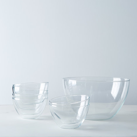Borosilicate Glass 7 Piece Prep + Mixing Bowl Set