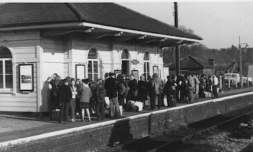 Photo: A party waiting at Charlbury (April 1972)