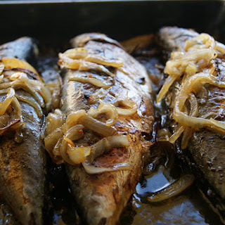 Oven-Baked Mackerel with Roasted Potatoes.