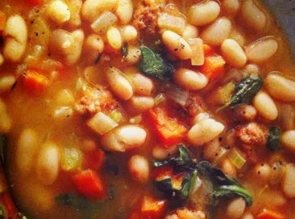 Sausage, Bean & Spinach Stew Recipe