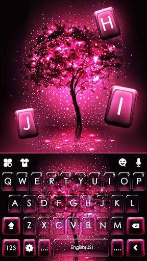Neon Pink Galaxy Keyboard Theme screenshot 5