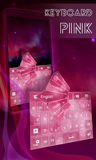 粉紅色的鍵盤三星
