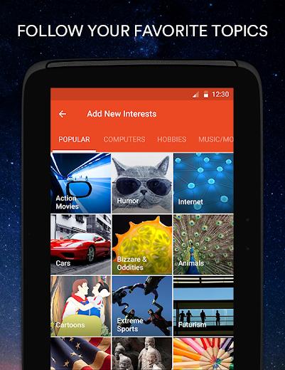 Screenshot 6 for StumbleUpon's Android app'