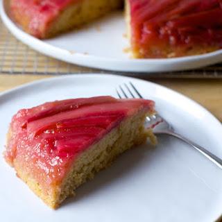 Rhubarb Upside-Down Spice Cake.