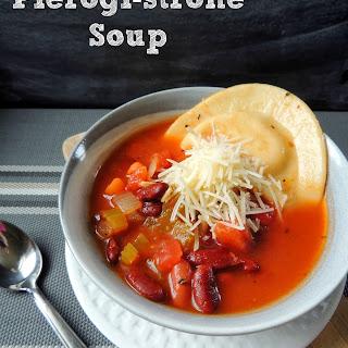 Pierogi-strone Soup.