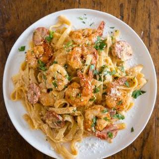 Shrimp Sausage Pasta Alfredo Recipes.