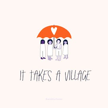 It Takes A Village - Instagram Post Template