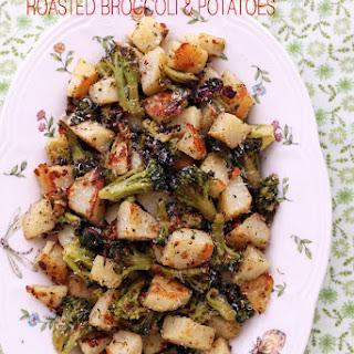 Parmesan Garlic Roasted Broccoli & Potatoes