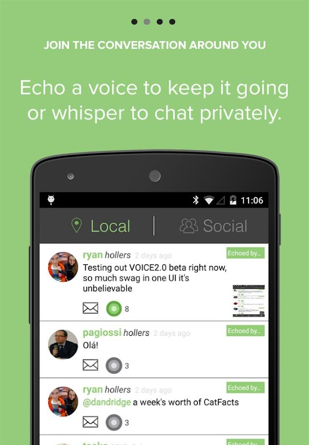 VOICE: Chat & Share Locally!- screenshot