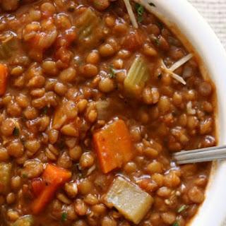 Instant Pot/Slow Cooker Garlic Herb Lentils.