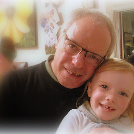 My Two Font Teeth... by Gordon Westran - People Couples ( grandaughter, tooth, grandad, loving, smile,  )