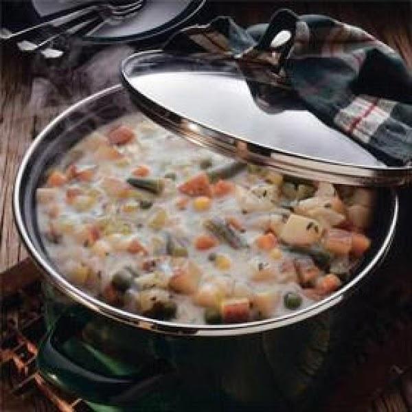 Quick Potato Vegetable Chowder Recipe
