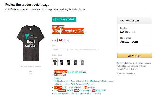 Merch by Amazon Trademark Protection