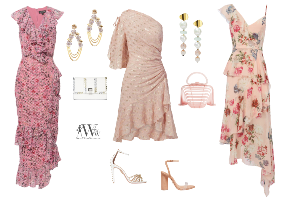 """Karen Klopp   """"I am jumping on the pastel trend for spring. And these pretty pink dresses are a perfect nod to the look. With feminine ruffles and festive patterns they are easy to wear."""
