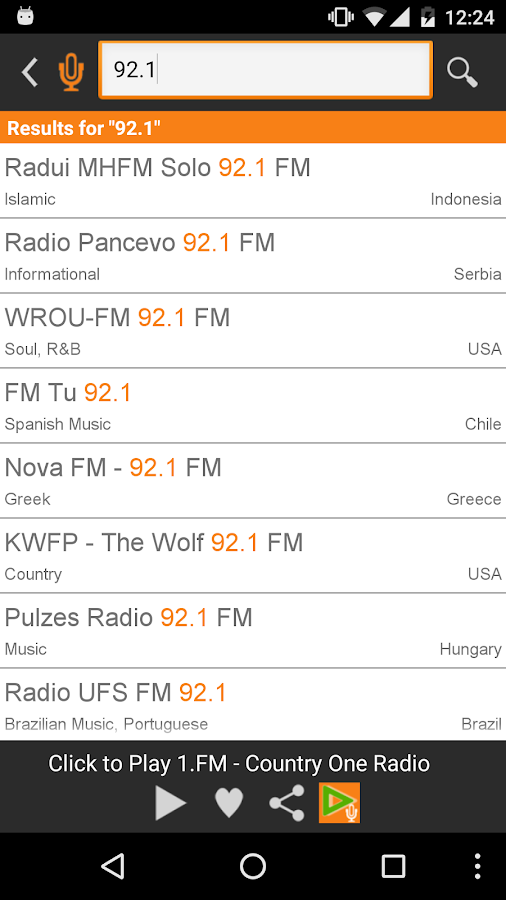 Radio FM- screenshot