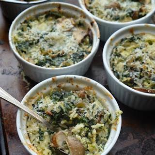 Mushroom & Spinach Baked Rice Bowls