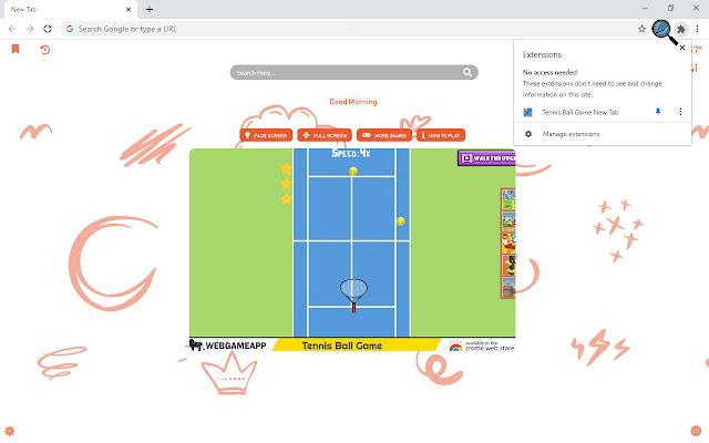 Tennis Ball Game New Tab