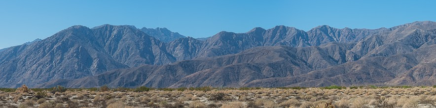 Photo: Toro Peak from Coyote Creek road, Anza Borrego SP