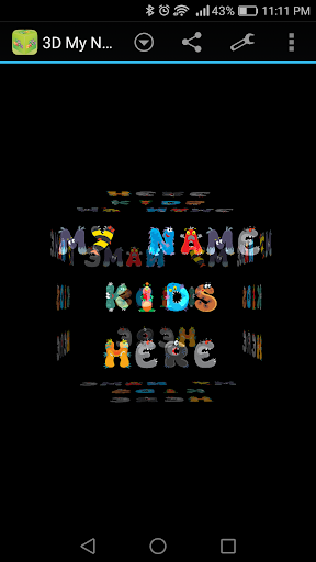 3D My Name for Kids LWP