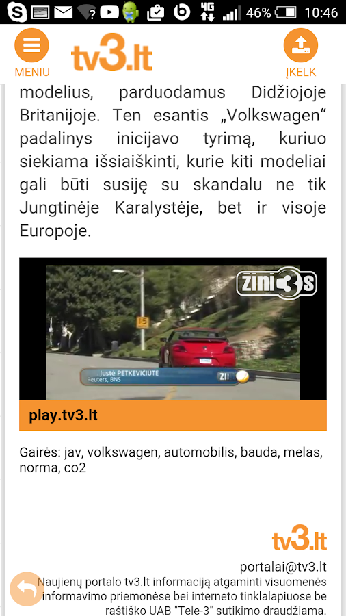 tv3.lt- screenshot