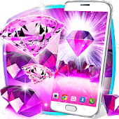 Pink diamonds live wallpaper