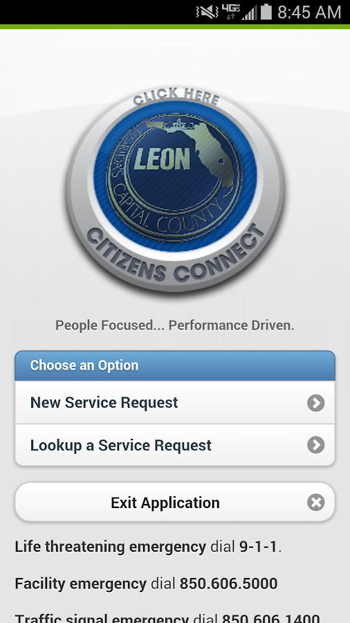 Leon County Citizens Connect- screenshot