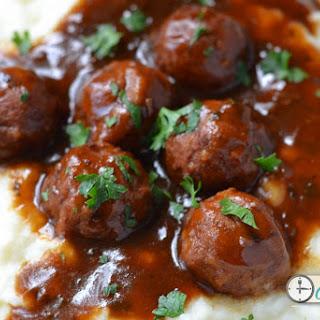 Simple Slow Cooker Salisbury Meatballs