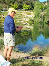 Photo: Paul Ericson catching a big one at the RVR Fishing Derby