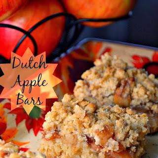 Dutch Apple Bars.