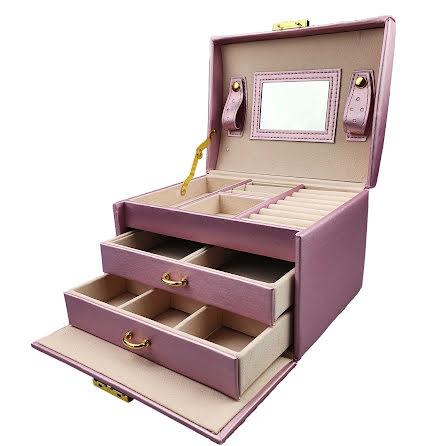Rosa Smyckeslåda/Juvelbox