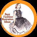 Fashion illustrations icon