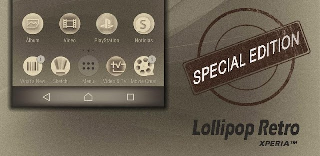 Lollipop Retro: Xperia Theme