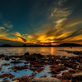 Sundown by Sondre Gunleiksrud - Landscapes Sunsets & Sunrises ( hdr, sunset, sundown, landscape photography, seascape, landscape, ocean view, norway,  )