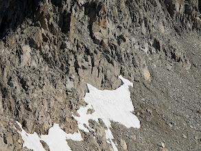Photo: Aquesta és la clapa de neu des d'on cal grimpar fins a la carena