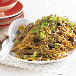 Beef and Black Bean Stir-Fried Noodles.