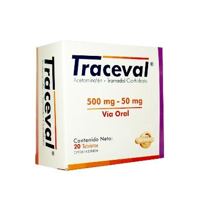 Acetaminofen + Tramadol Traceval 500/50 mg