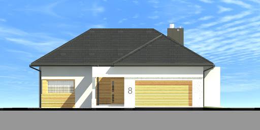 New House 8 - Elewacja przednia