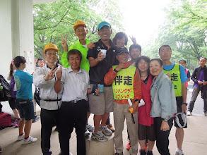Photo: 5月11日祝勝会に集合のウルトラランナー達、がろあん、モリビン、村本さん、、りゅうちゃん、ゆうちゃん、シブジャガさん、ヒーロ、ゆっきー、みやちゃん、かずき(ゆっきーの伴走)