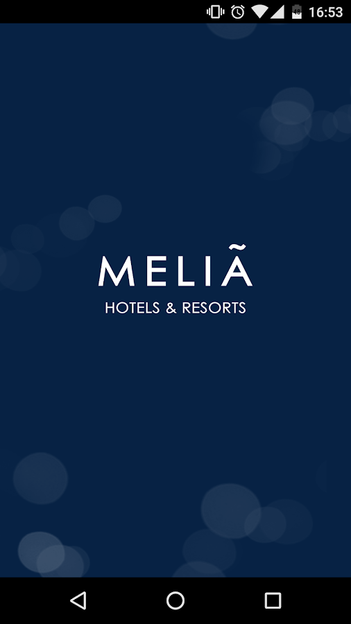 Meliá- screenshot