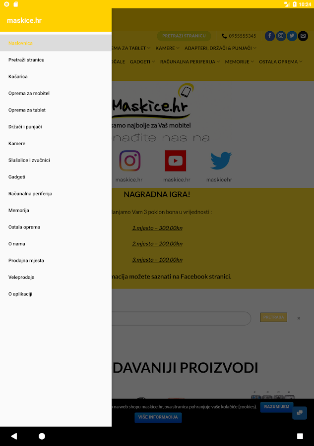 maskice.hr - Official Android™ Application- screenshot