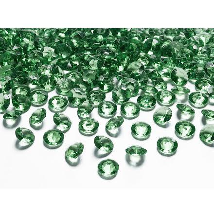 Dekorationsdiamanter - Grön