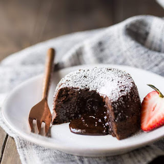 Chocolate Molten Lava Cakes.