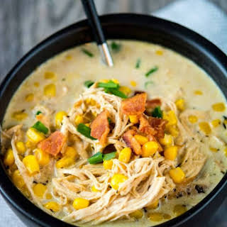 Slow Cooker Chicken and Corn Chowder.