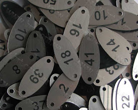 Photo: Номерки для сидений. Заказчик: Дворец Спорта, Киев. Серебристо-черный пластик толщиной 1.5 мм, гравировка лазером