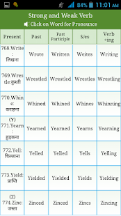 Irregular regular verbs hindi apps on google play screenshot image ccuart Image collections