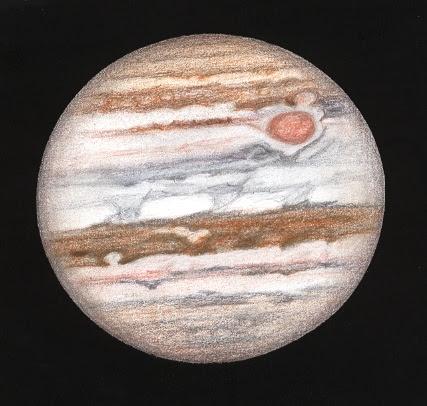 Photo: Jupiter au T406 à 450X en bino, le 9 août 2010 autour de 3H40TU. Valdrôme, images correctes.