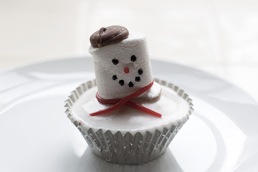 Melted Snowman Cupcake Recipe