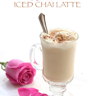 Rose-Scented Iced Chai Latte