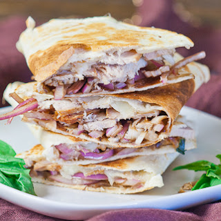 Pork and Balsamic Onion Quesadilla.