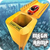 Vertical Mega Ramp Stunts Car Racing